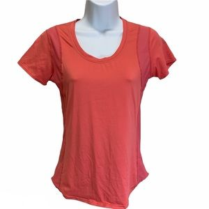 Lucy Coral Short Sleeve Athletic Activewear Shirt